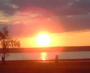 Illmitz Sonnenuntergang am Neusiedler See 11082013